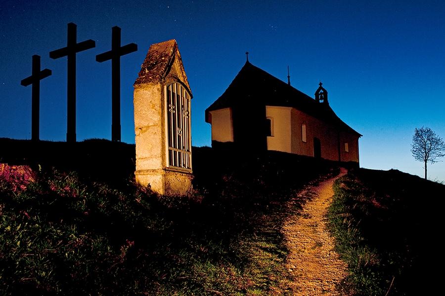 Lichtwanderung an der Salmendinger Kapelle