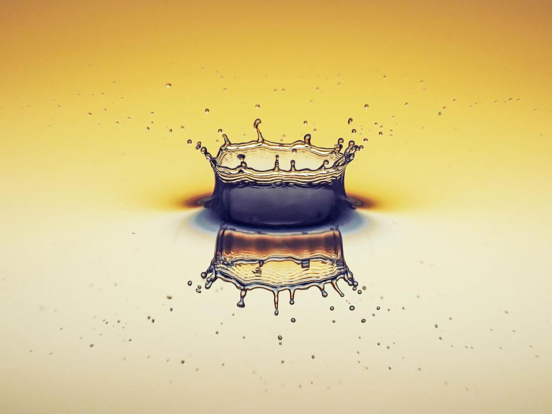 Wasser, Einschlagkrone