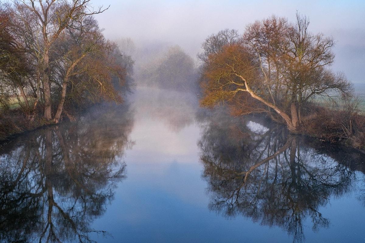 Nebel im Neckartal
