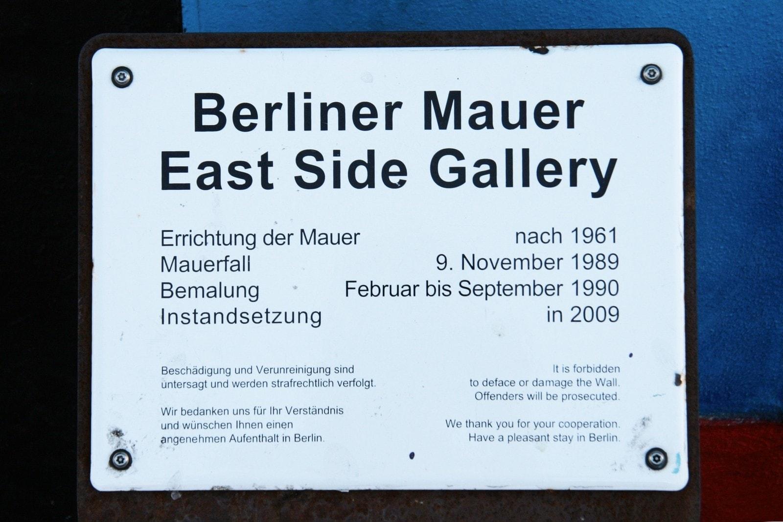 57 Jahre Berliner Mauer