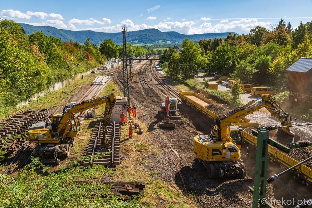 Erneuerung von Gleis 2 im September 2016