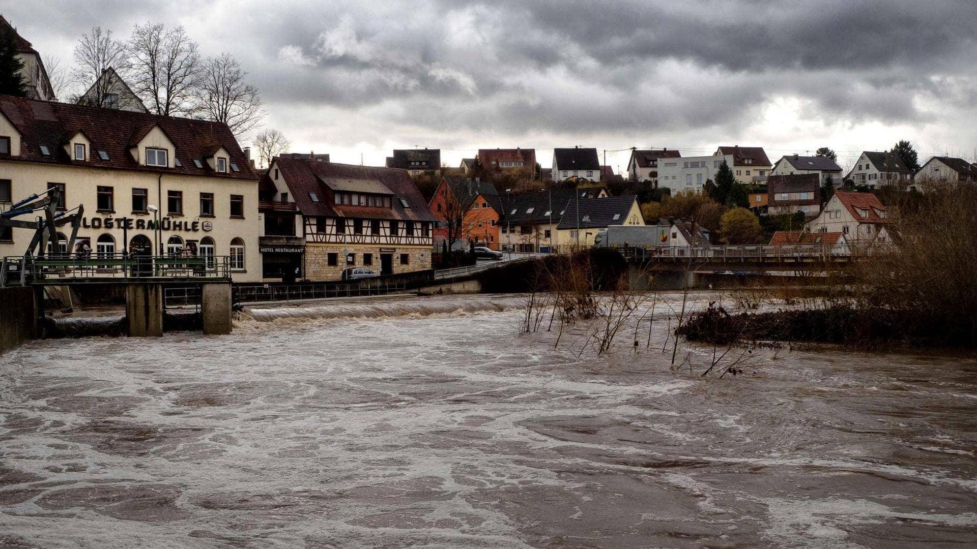 Hochwasser am Neckar
