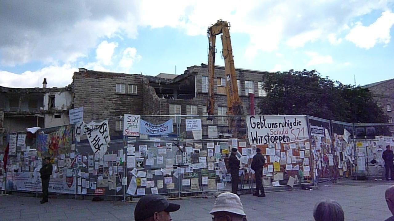 Protest am Zaun - der Bauzaun des Bauprojekts Stuttgart 21