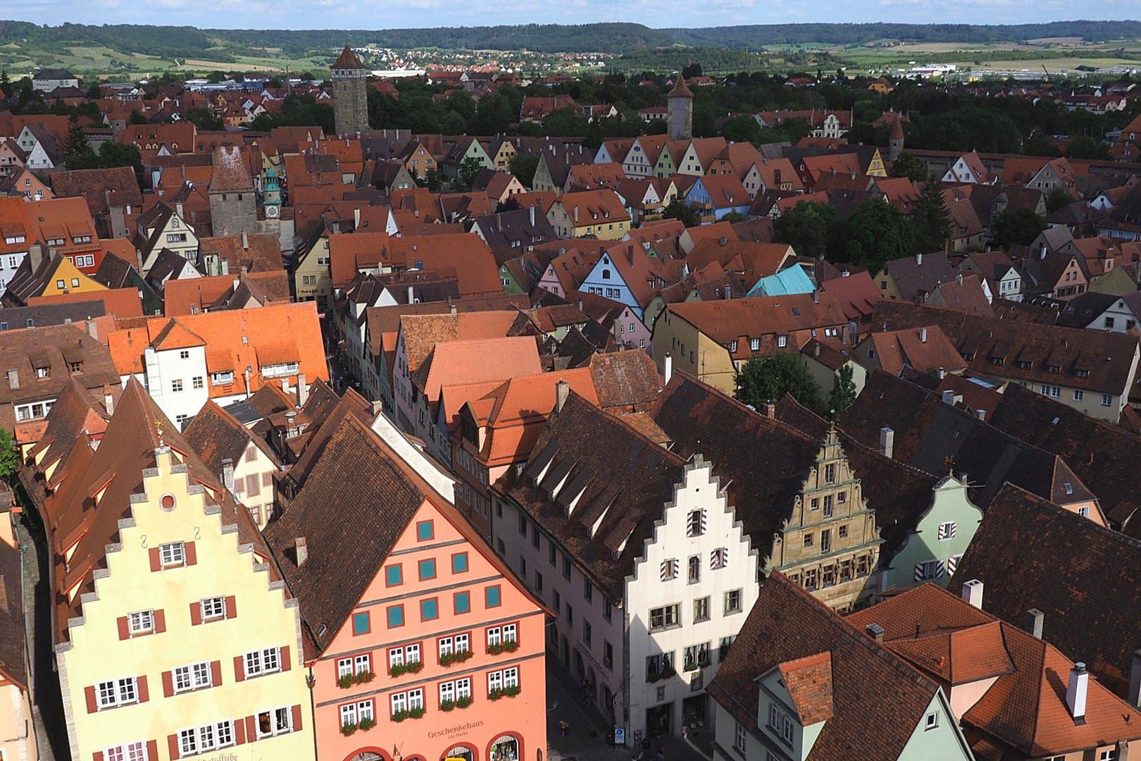 Über den Dächern von Rothenburg - Above the roofs of Rothenburg/Germany