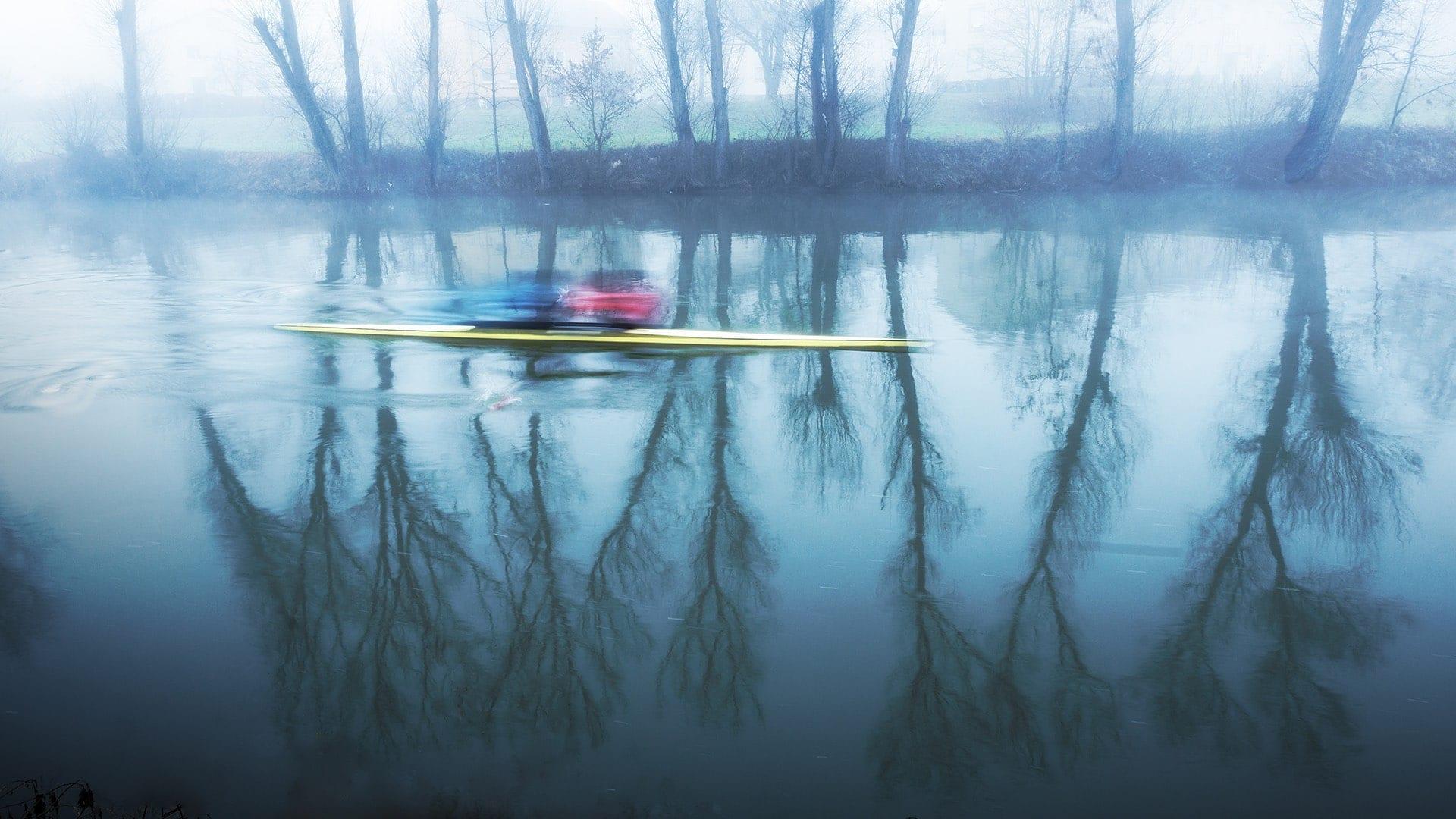 Rudern auf dem Neckar I